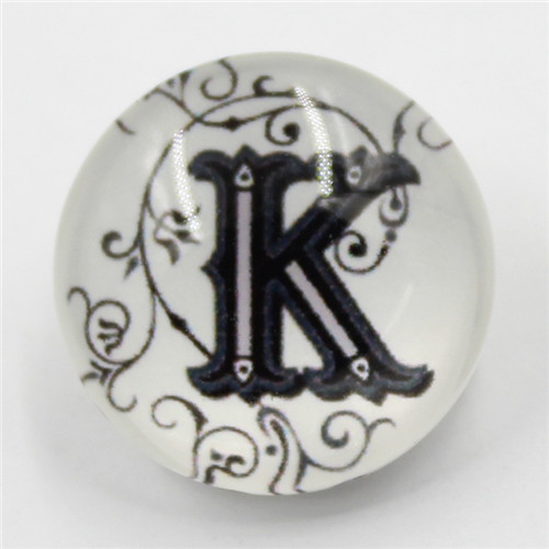 Mix Letter Design Resin Prong Snap Button