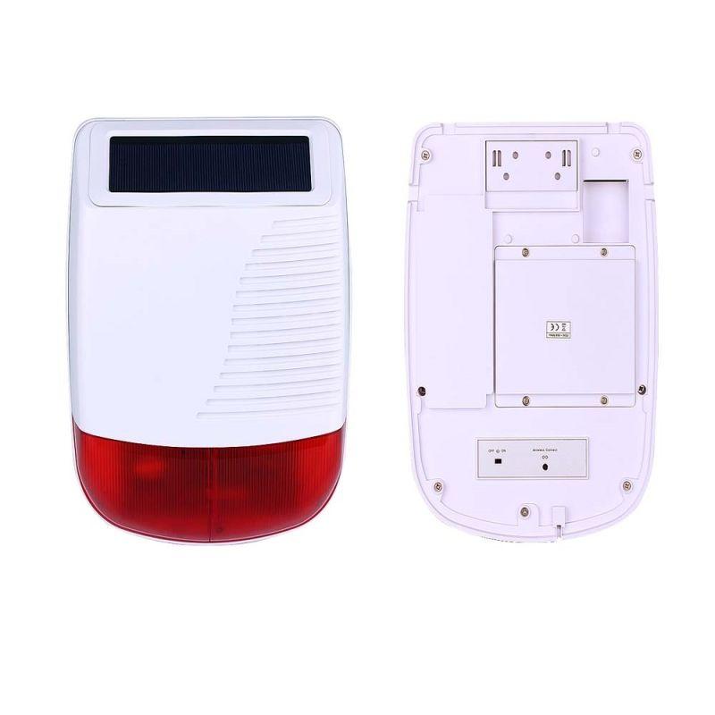 Wireless Outdoor Strobe Siren with Solar Battery (ES-8103S)