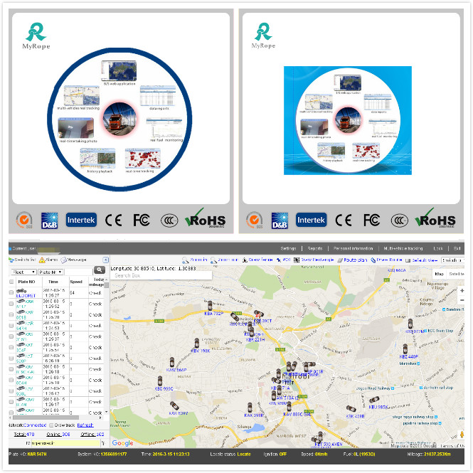 GPS Tracking Fleet Management Software with Multi Reports GS102