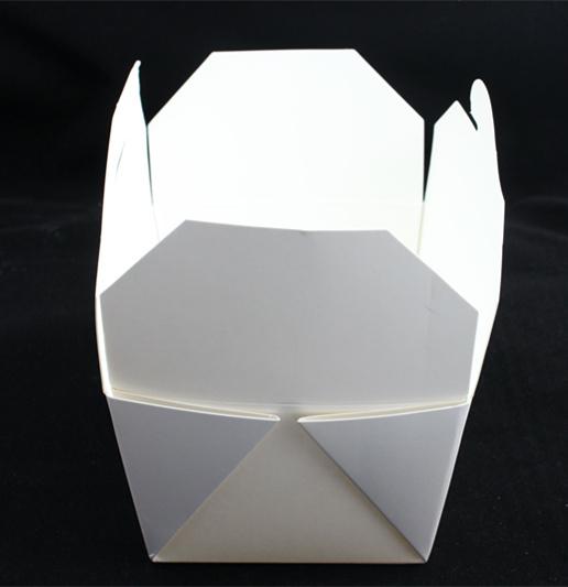 Plain White Folding Take Away Pasta Paper Box Wholesale