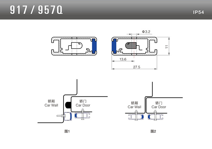 Aufzugslichtvorhang Sicherheitsbalken Ersatzteile Aufzugstürsensor