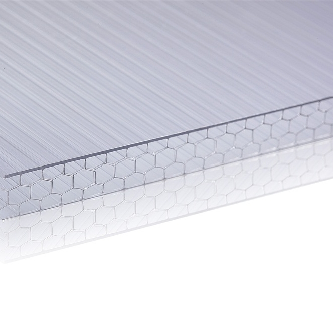 Polycarbonate Honeycomb Sheet Multiwall Sheet Manufacturer for Skylight Roofling Sheets 10 Years Warranty Acrylic PVC Sheet