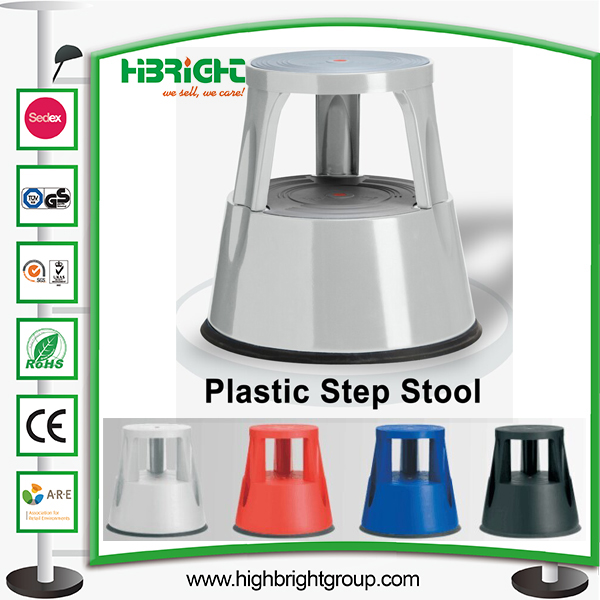 Plastic Rolling Library Step Stool Ladders