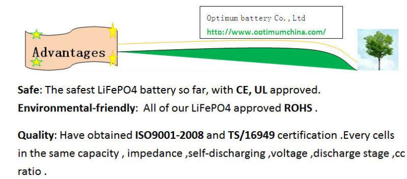 Lithium 36V 30ah LiFePO4 Battery for EV