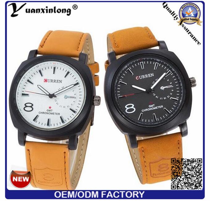 Yxl-693 Curren Luxury Brand Quartz Watch Casual Fashion Leather Watches Reloj Masculino Men Watch