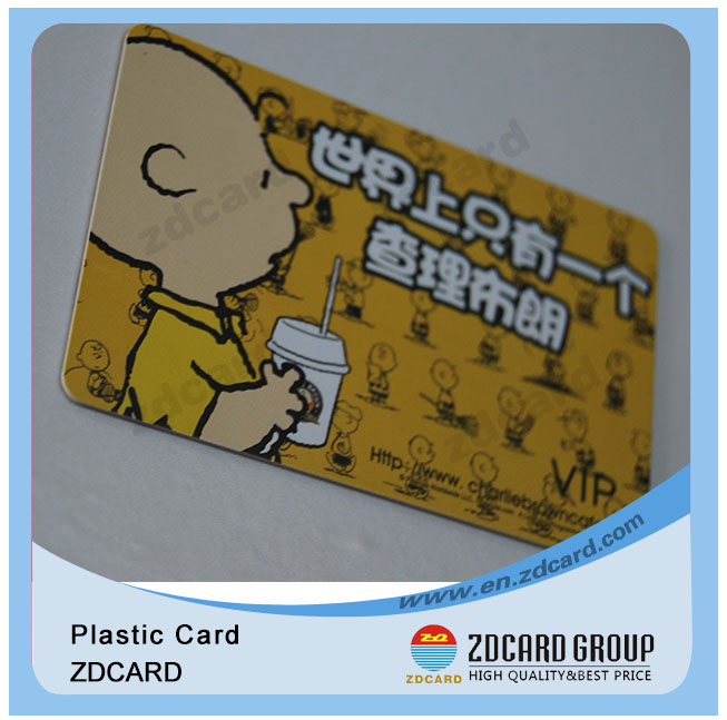 Transparent Plastic Barcode Membership Cards