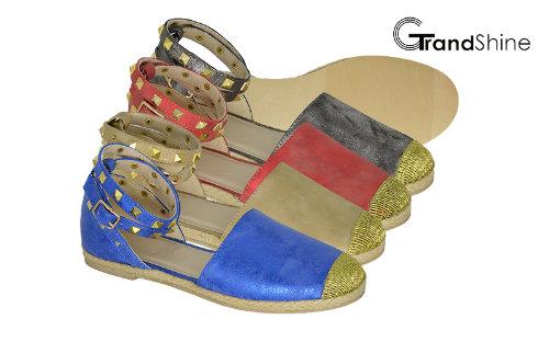 Women's Comfort Ankle Strap Espadrille Flat Sandal