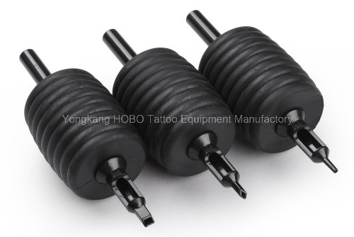 Wholesale All Black Products Style Silicone Rubber Disposable Tattoo Tube