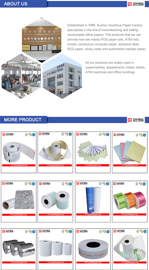 SGS Carbonless Paper Rolls with Competitive Price