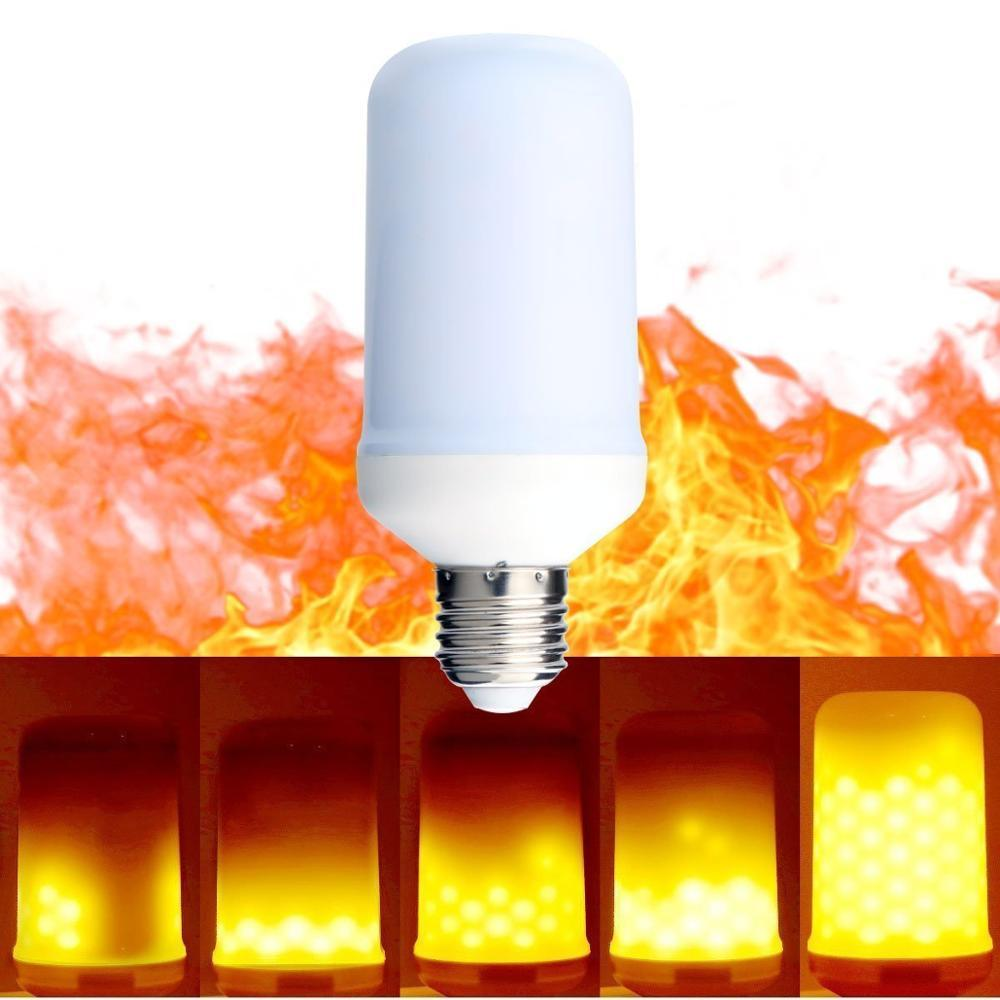 Hot Sell LED Fire Effect Bulb Light 5W AC85 - 265V E26 E27 Flame Lamp