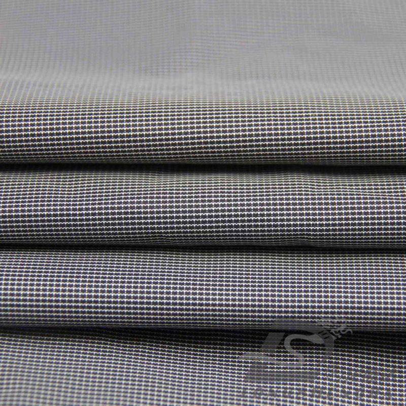 Water & Wind-Resistant Outdoor Sportswear Down Jacket Woven Plaid Jacquard 100% Polyester Black Yarn Filament Fabric (FJ010F)