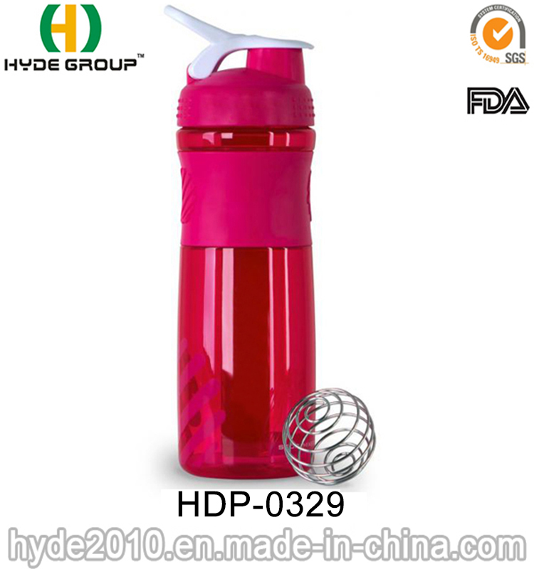 1000ml Neon Color BPA Free Protein Plastic Shaker Bottle (HDP-0329)