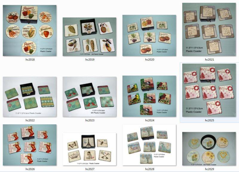 New Product Custom Printing PVC Cork Coasters
