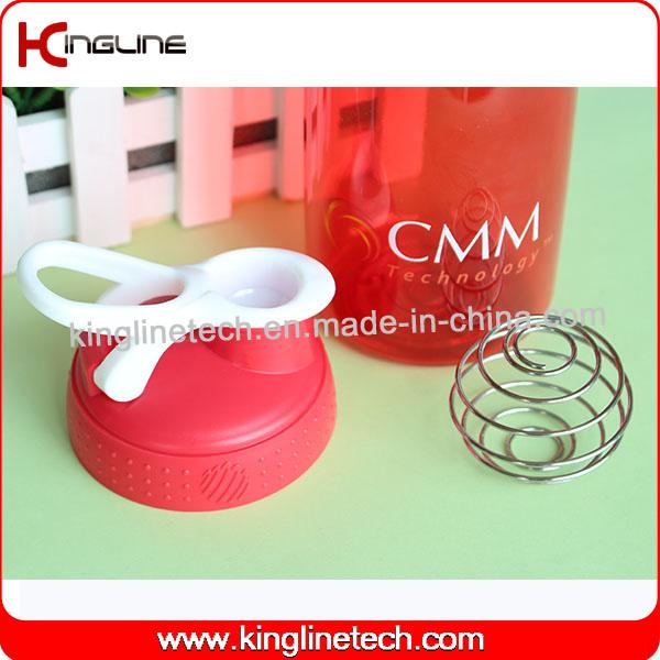 750ml Plastic Protein Shaker Bottle with Stainless Blender mixer Ball (KL-7063)