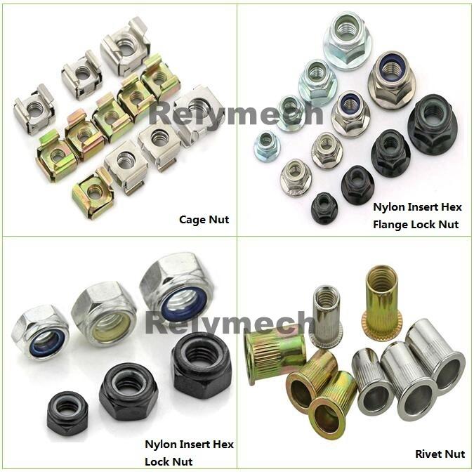 Stainless Steel/Carbon Steel Nylon Insert Hex Flange Lock Nut