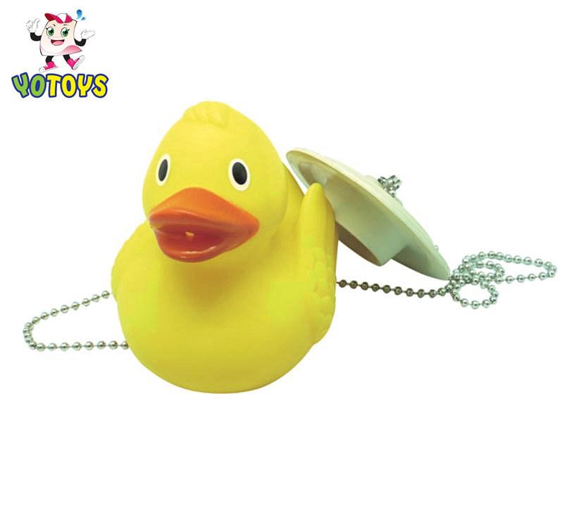Plastic Yellow Ducky Toy Bathtub Plug Shower Water Stopper