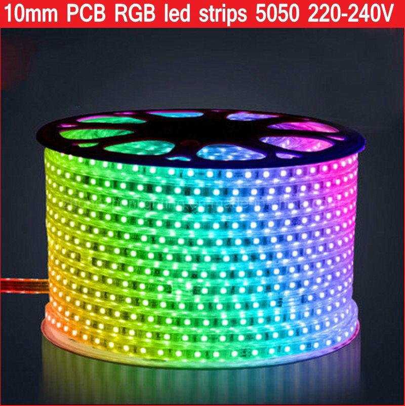 Waterproof SMD5050 220V 60LED/M RGBW RGB Flexible Addressable LED Strip Light