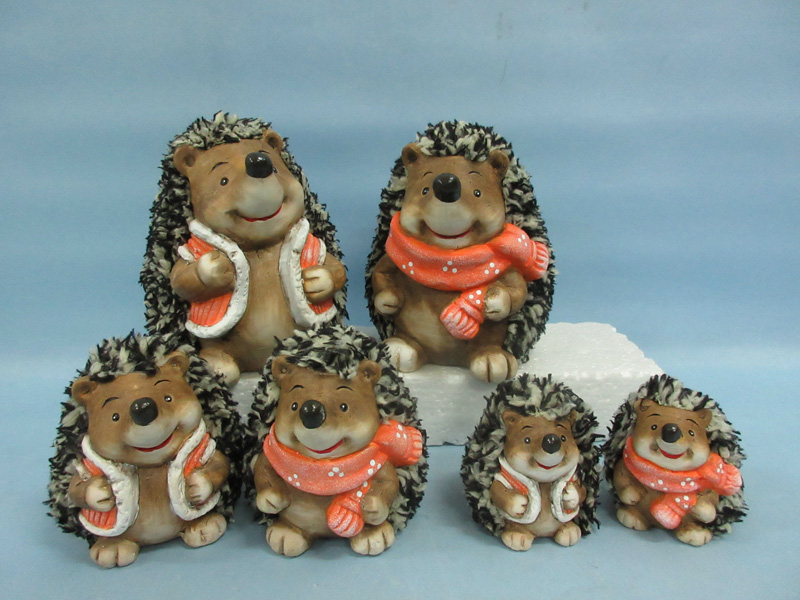 Hedgehog Shape Ceramic Crafts (LOE2531-C9)