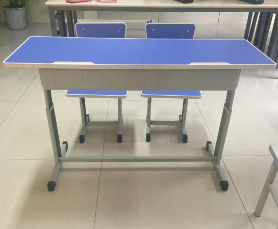 Height Adjustable Double School Desks for Sale