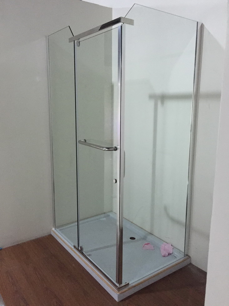 Low Tray 6cm Simple Square Shower Enclosure (ADL-8028B)