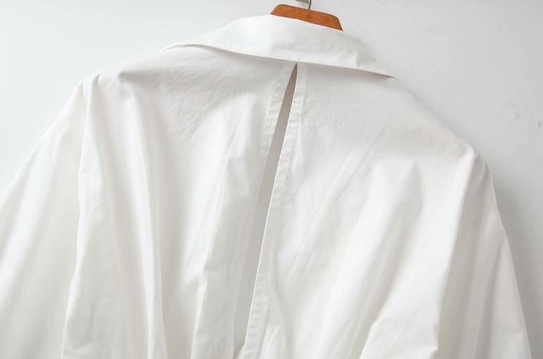 plus size white oversize ladies shirt dresses