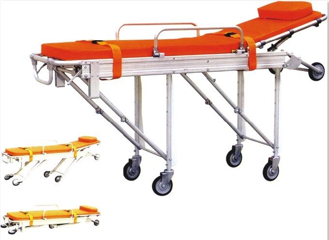 Medical Hospital Adjustable Aluminum Folding Emergency Ambulance Stretcher