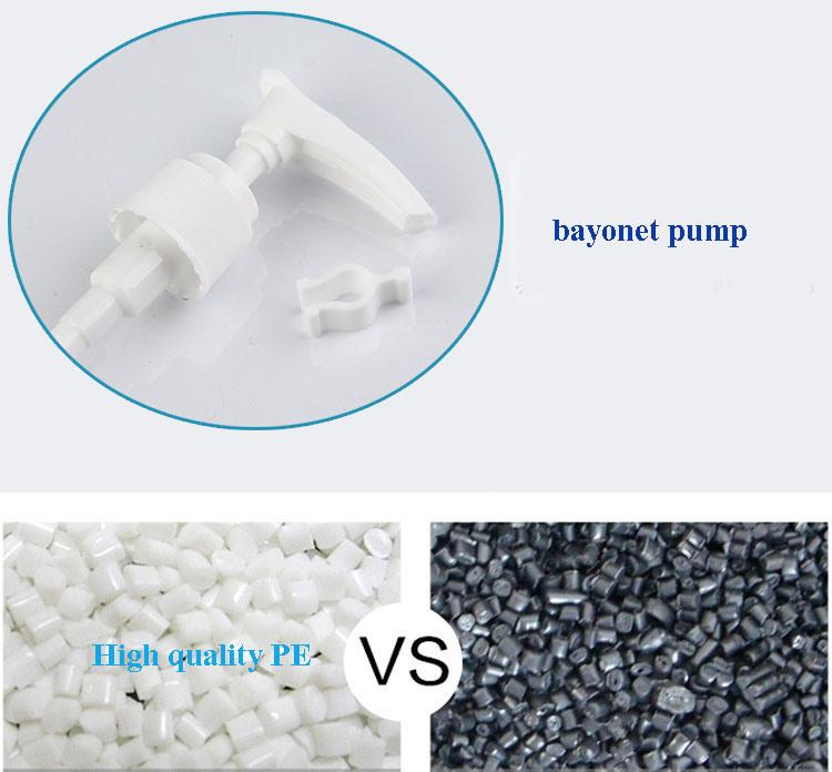 Black Plastic Lotion Pump Bottle (NB204)