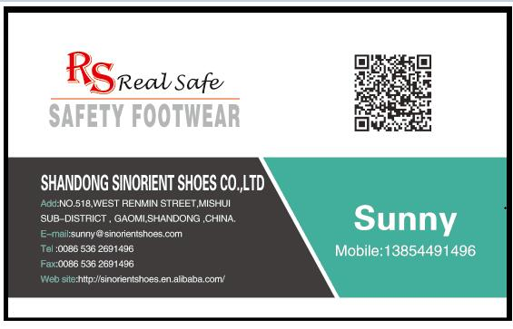 Workman's Safety Shoes with Steel Toe and Steel Plate RS044