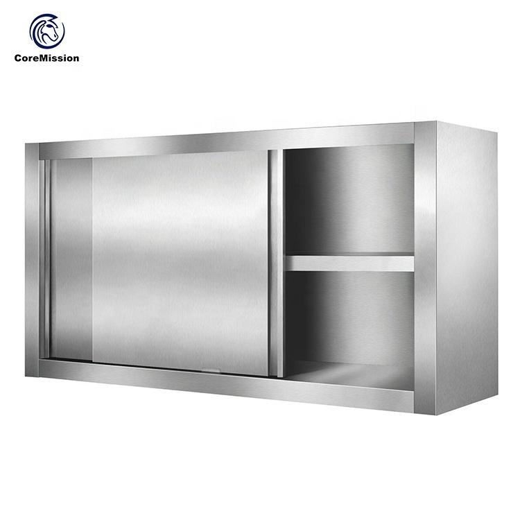 Stainless Steel Sliding Door Kitchen Wall Hanging Cabinet