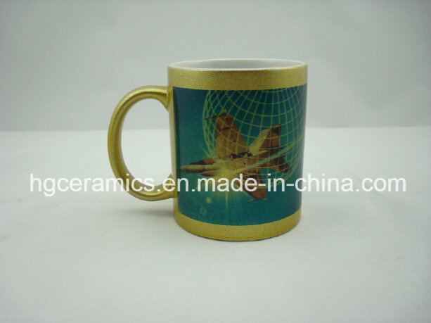 11oz Silver Sublimation Mugs, Gold/Silver Sublimation Mug
