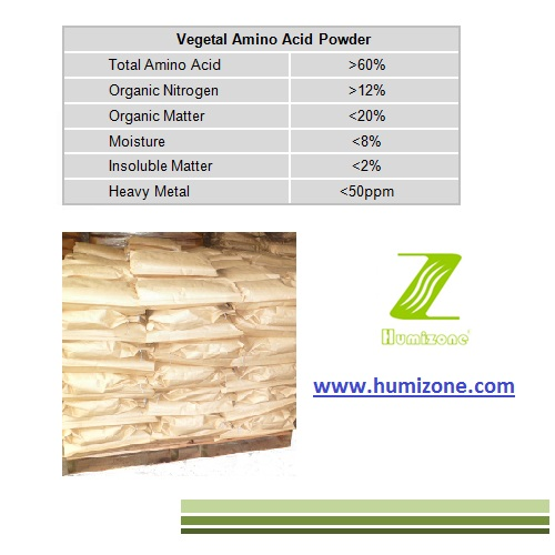 Humizone Amino Acid Organic Fertilizer: Vegetal 60% Powder Amino Acid (VAA60-P)