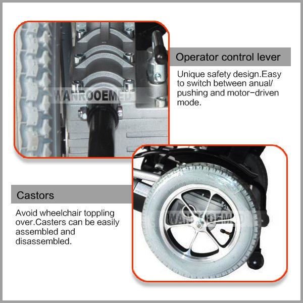 Bwhe501 High Strength Economic Aluminium Folding Electric Power Wheelchair