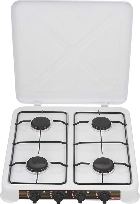 Euro Style Four Burner Camping Gas Stove with Cover