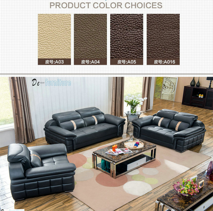 Combination Sofa, Genuine Leather Sofa, Living Room Sofa (M221)