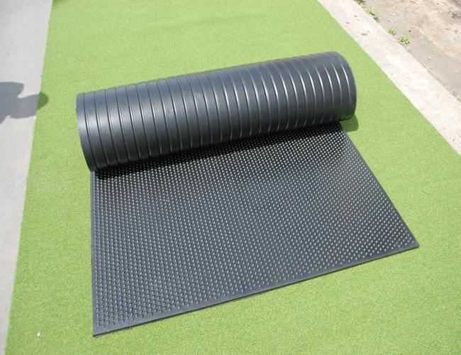 Recycle Rubber Horsemat Round DOT & Groove Pattern Stable Mats