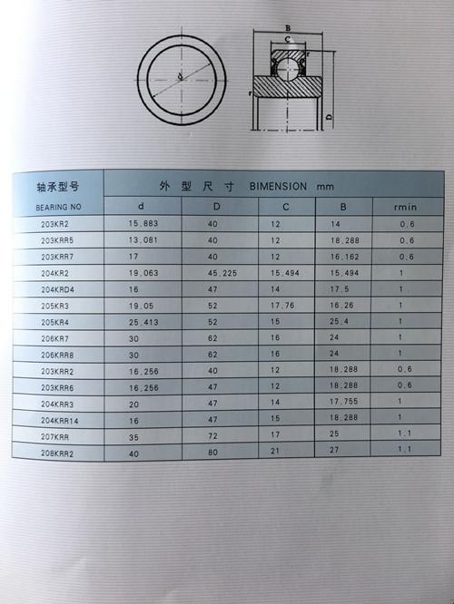 Roud Bore Agricultural Bearings