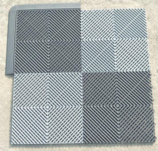 Outdoor Plastic Rubber Exhibition Flooring Tile/Eco-Friendly Skidproof Plastic Floor