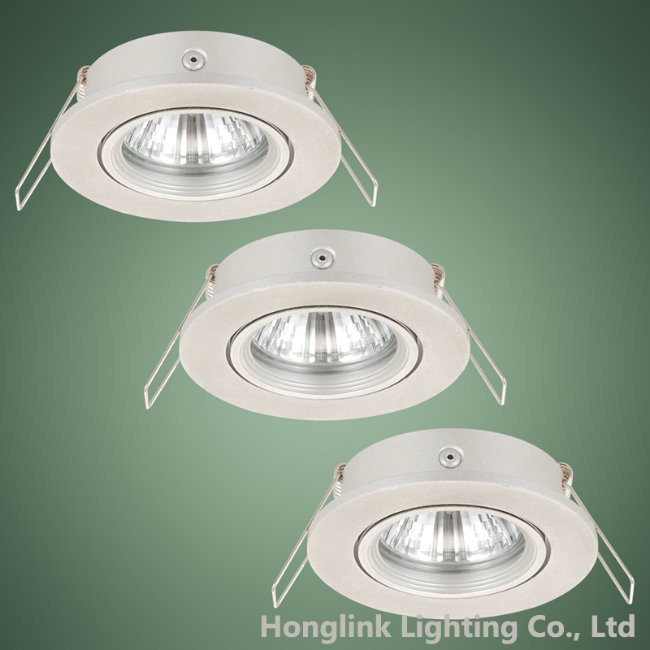 Aluminum Adjustable LED Downlight Fixture for GU10 MR16 5W LED Bulbs