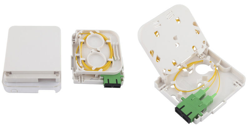 Wall Mounted 2 Ports Fiber Optic Terminal Box for FTTH