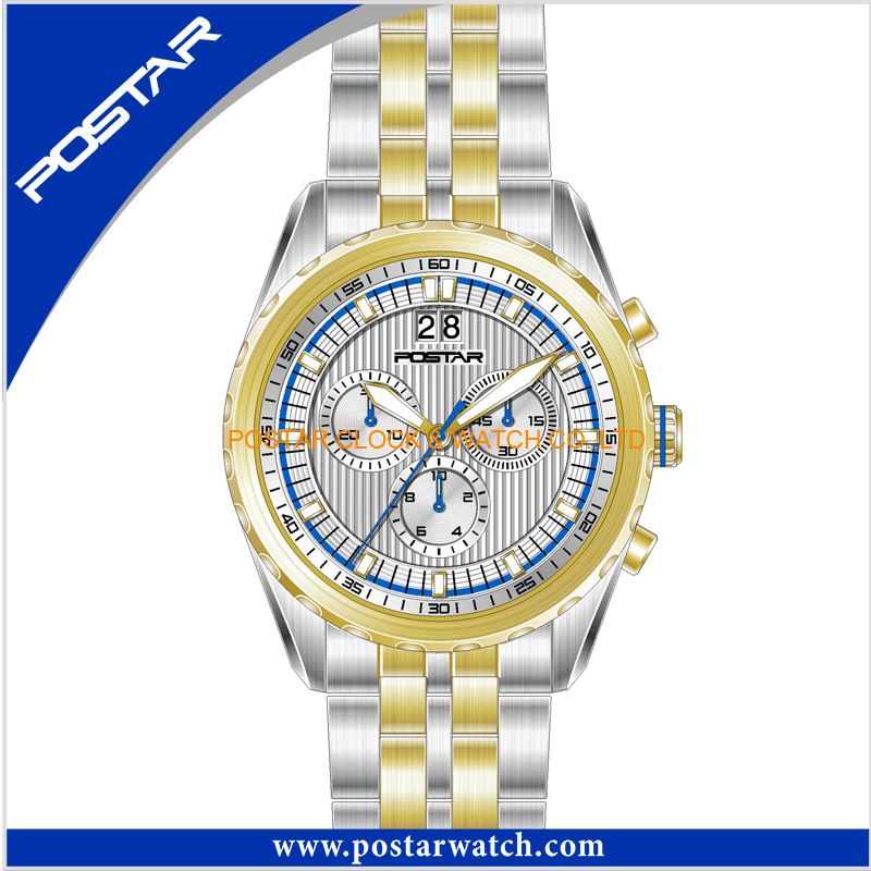 Top 100 Chronograph Watch with Two Tone Platings (IPS/IPG)