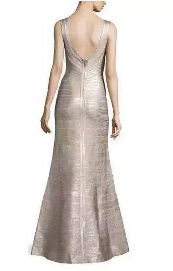 Gold Long Maxi Dress 2017 New Arrival Formal Dresses