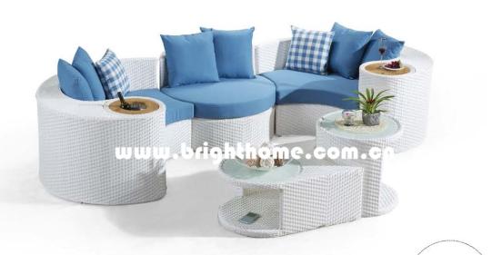 Combination Wicker Outdoor Furniture Sofa Set Bp-873f
