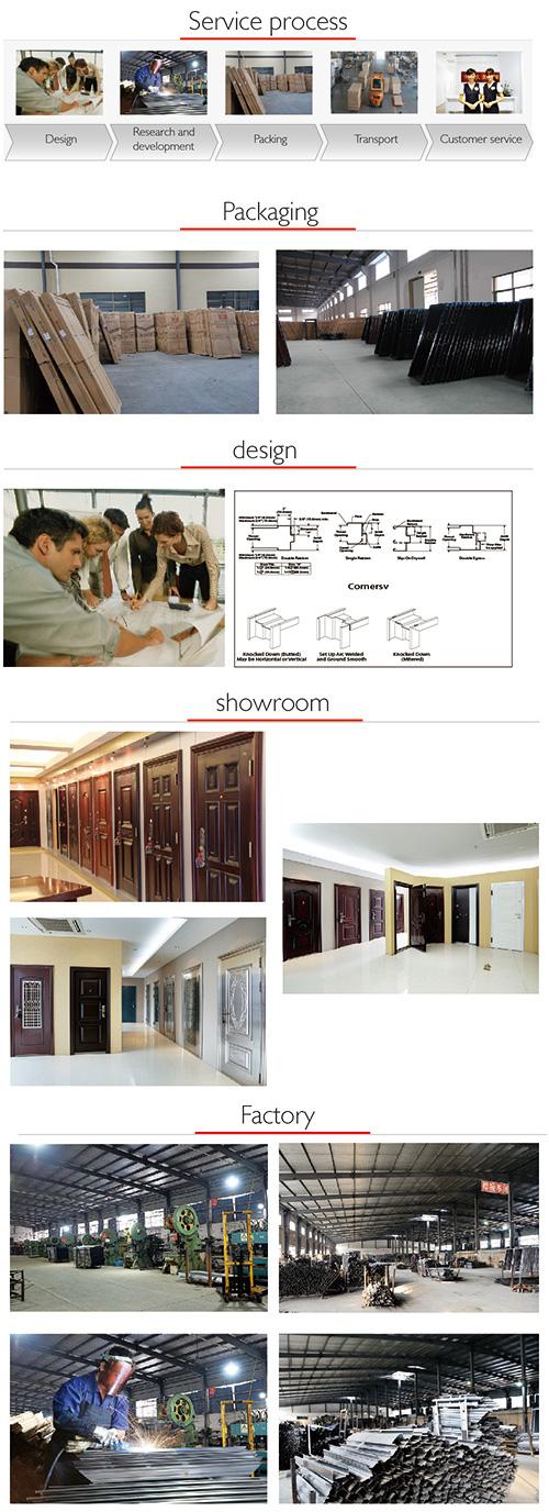 New Design and High Quality Steel Security Door (SC-S037)