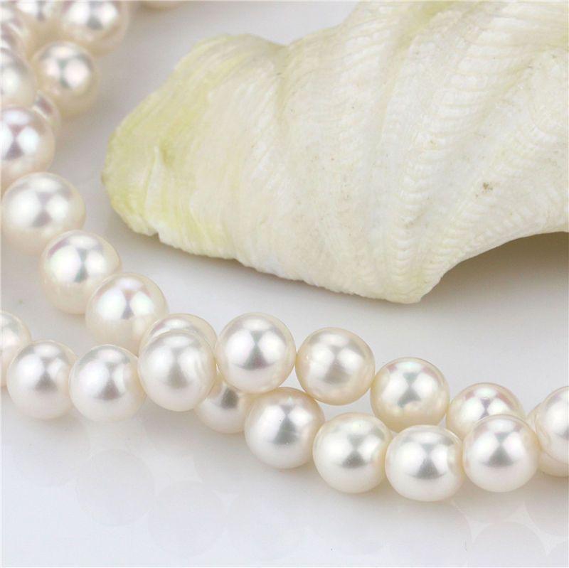 Natural Freshwater Pearl Strand AAA Near Roundnear 12mm Large Pearl Strand