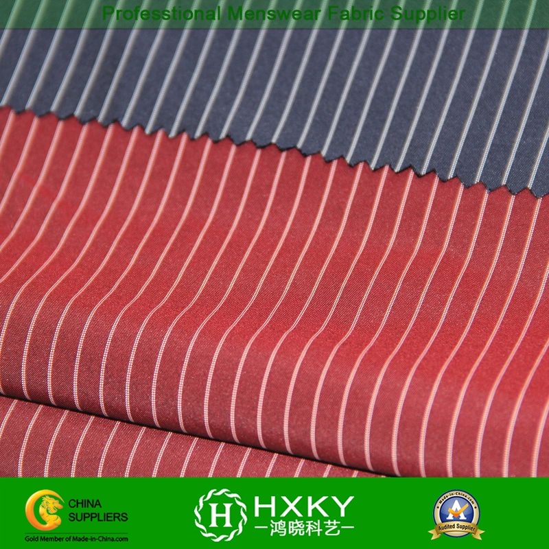 Stripe Yarn Dyed Polyester Fabric for Men's Casual Shirt or Jacket