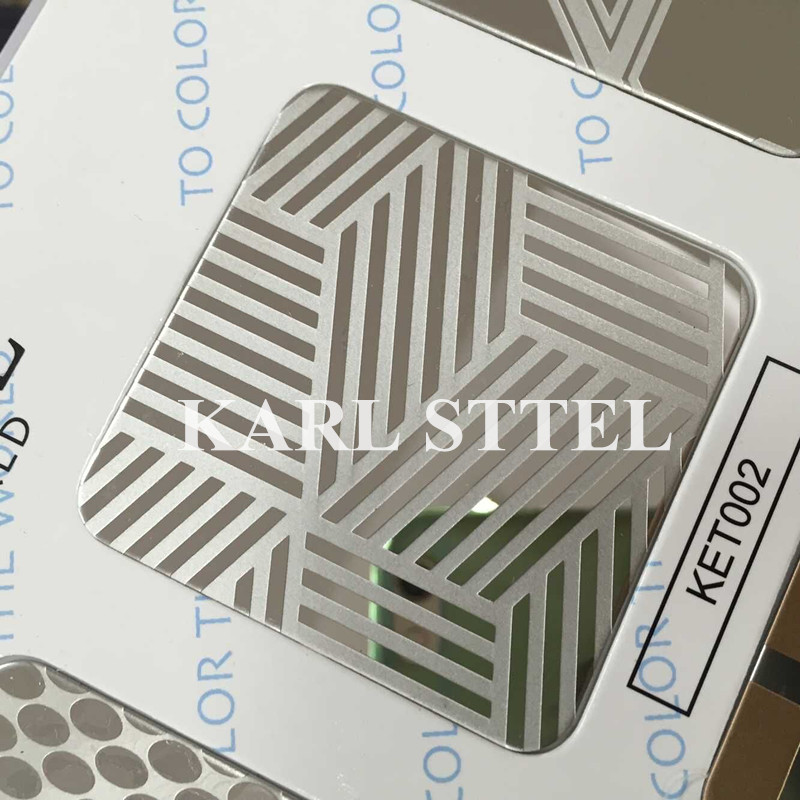 High Quality 410 Stainless Steel Color Ket007 Etched Sheet