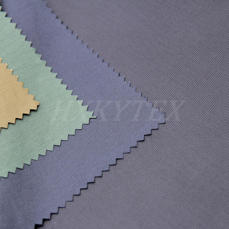 Faille Stripe Polyester Fabric for Fashion Coat