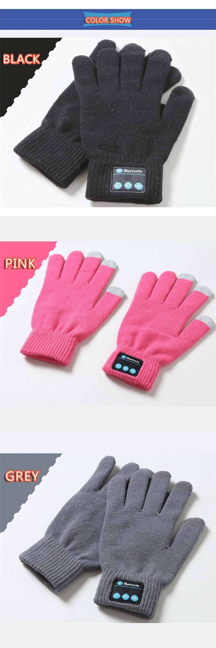 Bluetooth Gloves Mobile Earphone