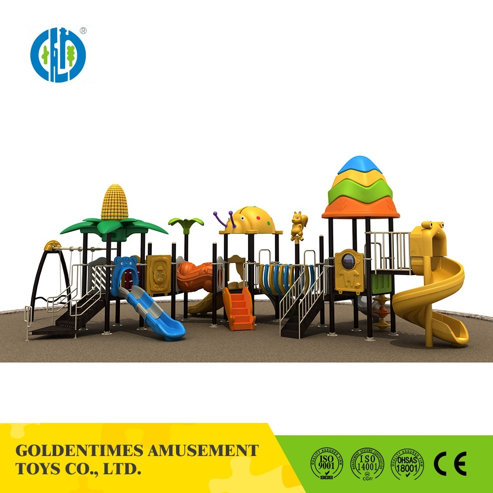 Manufacture Custom Colorful Outdoor Play Structure Slide Playground Equipment