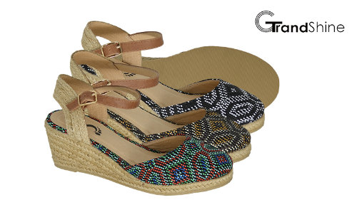 Women's Raffia Espadrille Wedge Sandals